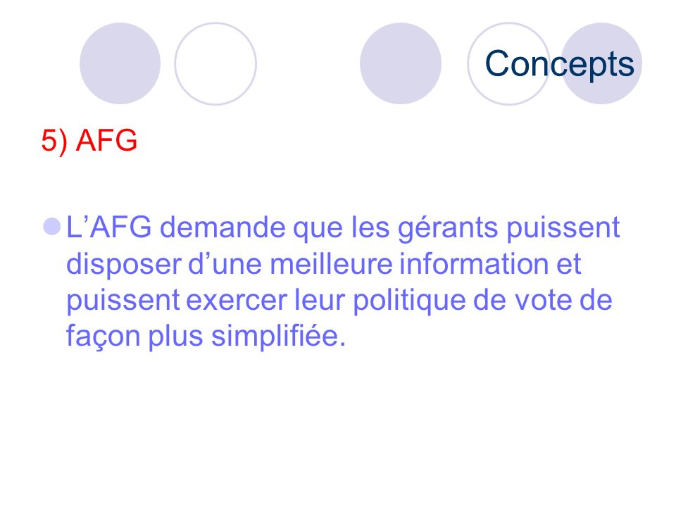 Concepts 5) AFG.