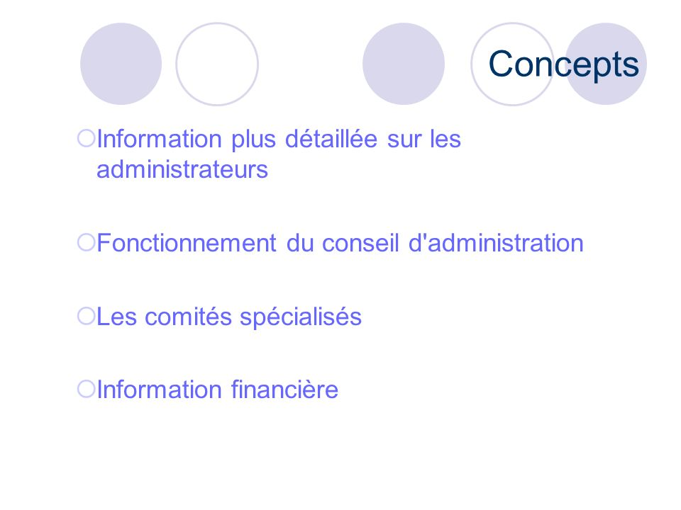 Concepts Information plus détaillée sur les administrateurs