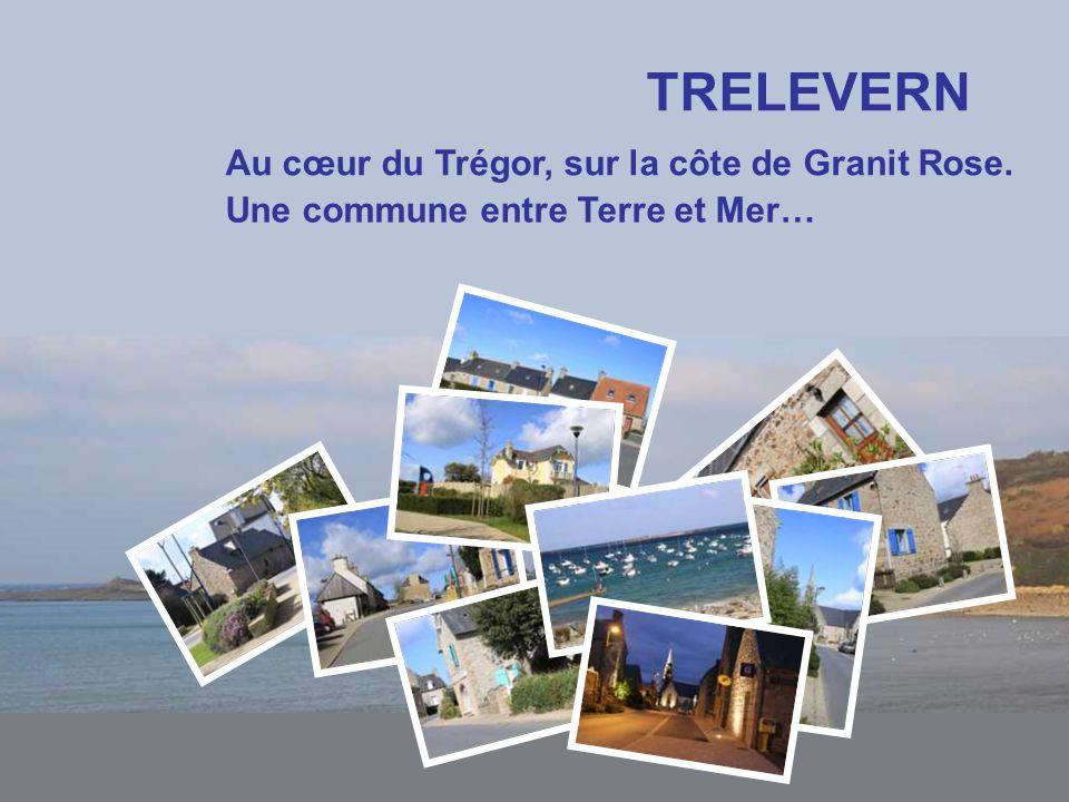TRELEVERN Au cœur du Trégor, sur la côte de Granit Rose.