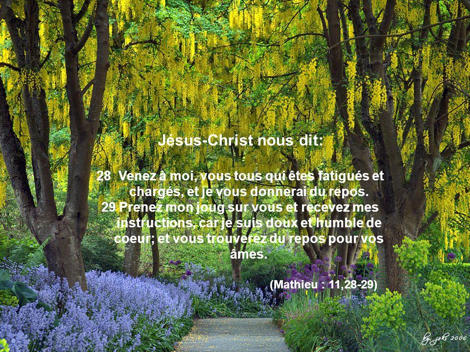 Jésus-Christ nous dit: