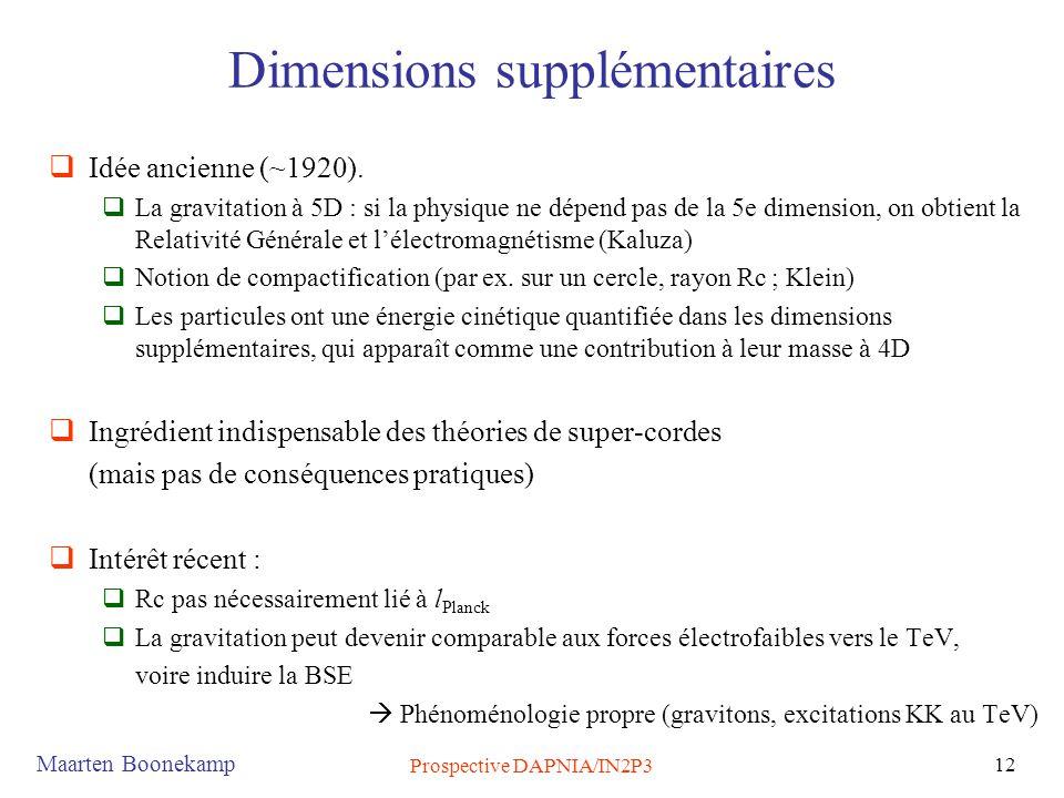 Dimensions supplémentaires
