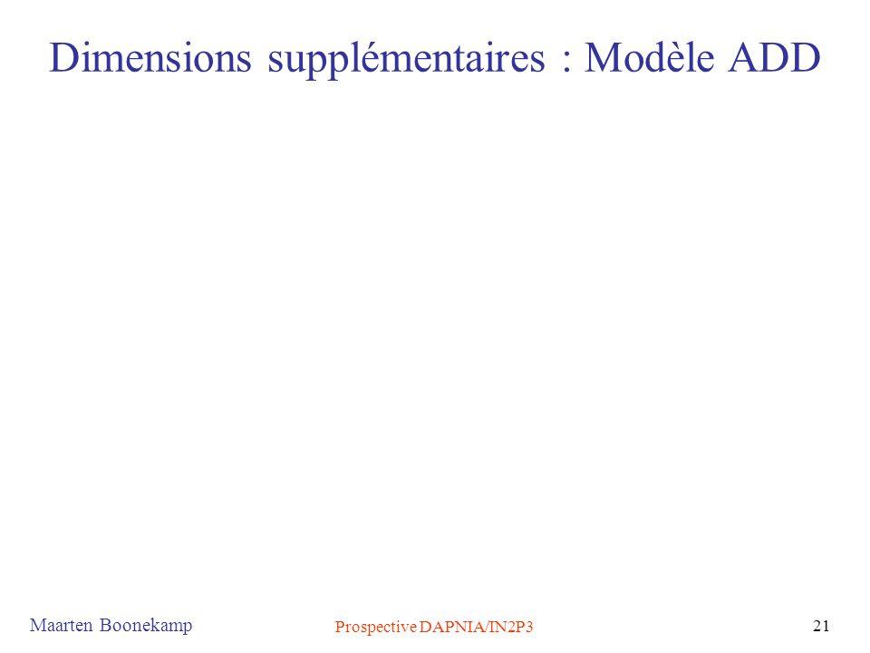 Dimensions supplémentaires : Modèle ADD