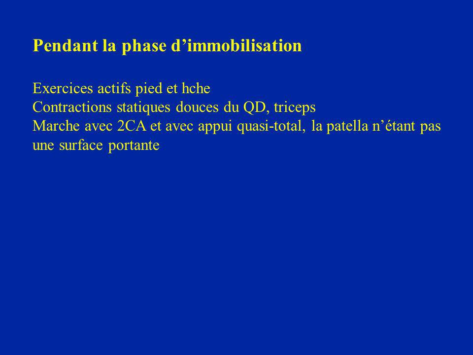 Pendant la phase d'immobilisation