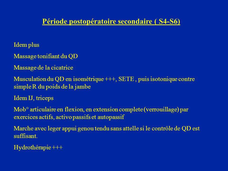 Période postopératoire secondaire ( S4-S6)