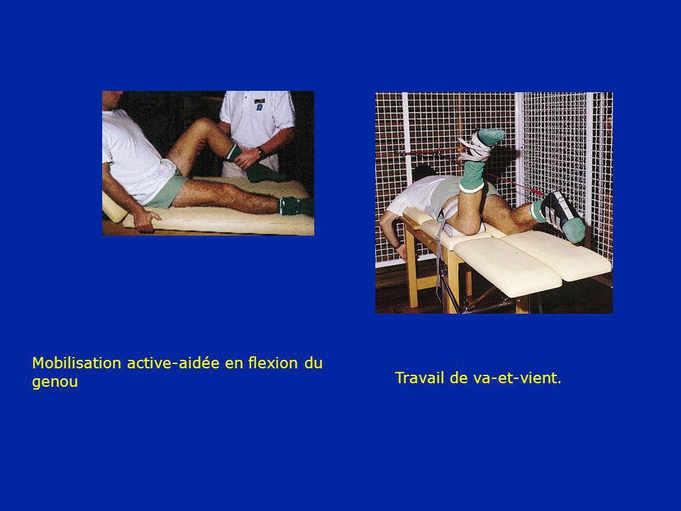 Mobilisation active-aidée en flexion du genou