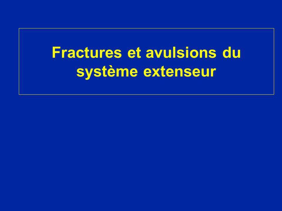 Fractures et avulsions du système extenseur