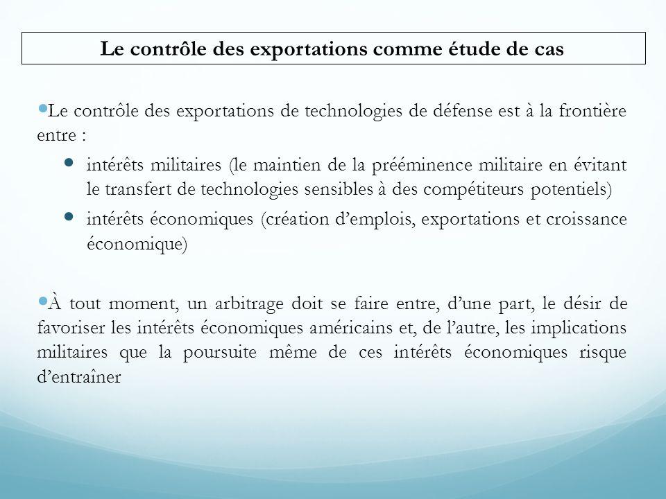 Le contrôle des exportations comme étude de cas