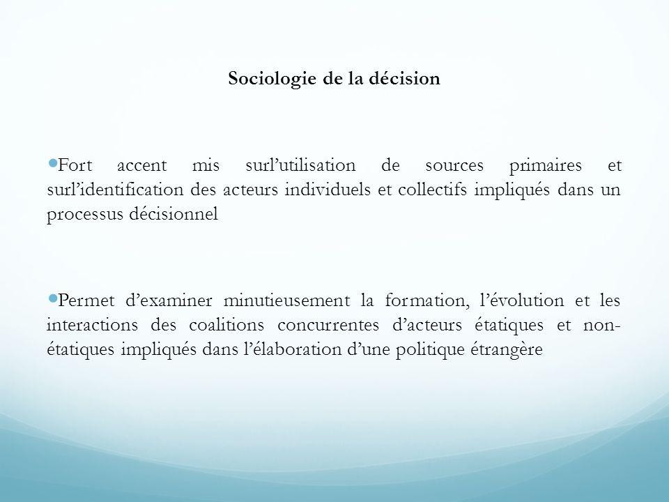 Sociologie de la décision