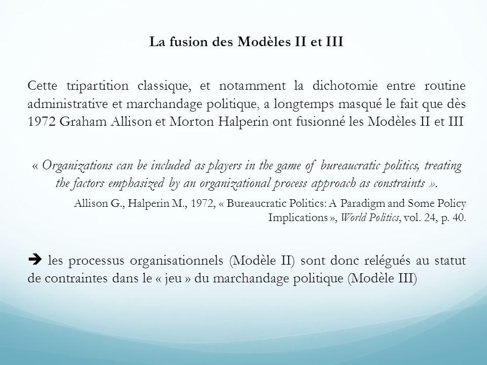 La fusion des Modèles II et III