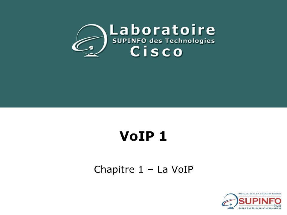 VoIP 1 Chapitre 1 – La VoIP