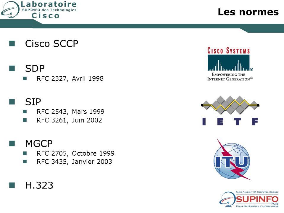 Les normes Cisco SCCP SDP SIP MGCP H.323 RFC 2327, Avril 1998