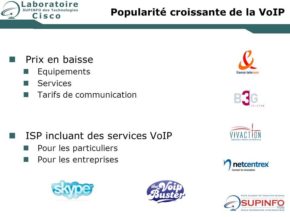 Popularité croissante de la VoIP