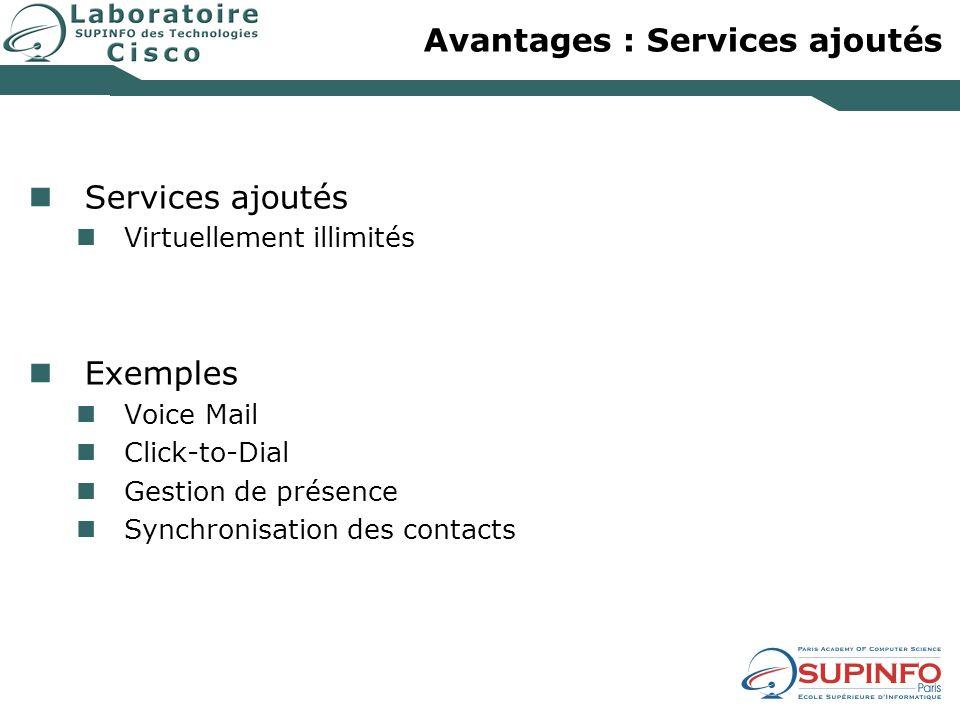 Avantages : Services ajoutés