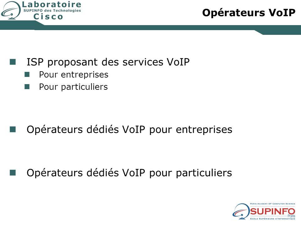 ISP proposant des services VoIP