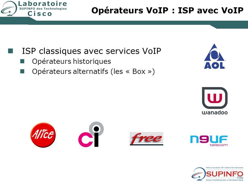 Opérateurs VoIP : ISP avec VoIP