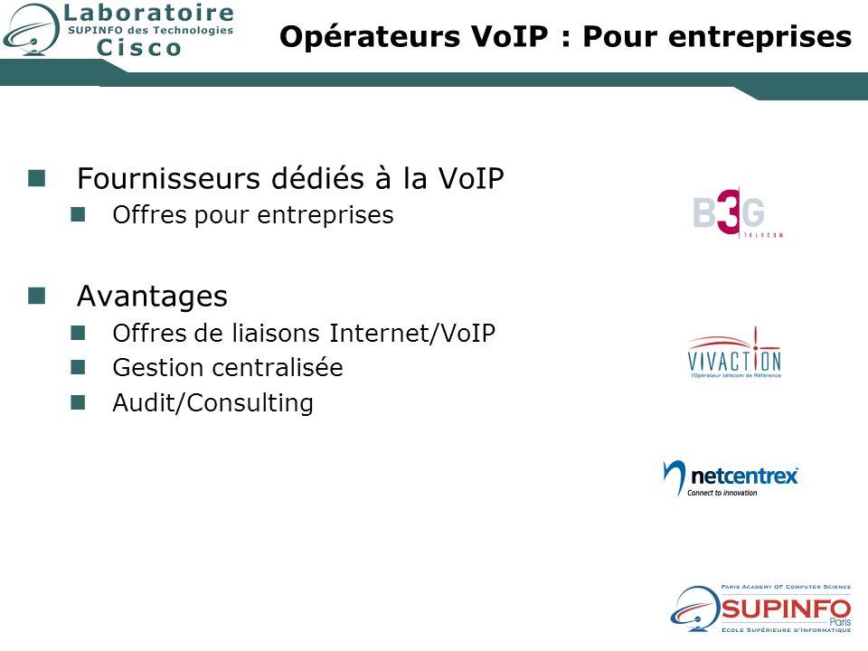 Opérateurs VoIP : Pour entreprises