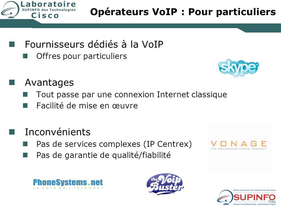 Opérateurs VoIP : Pour particuliers
