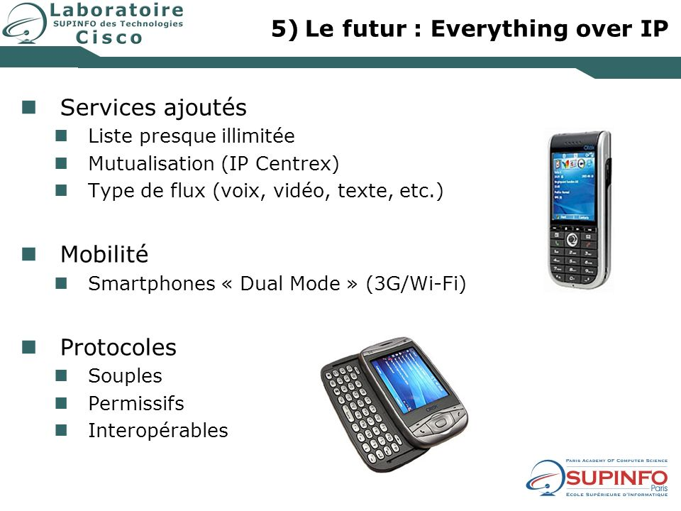 Le futur : Everything over IP