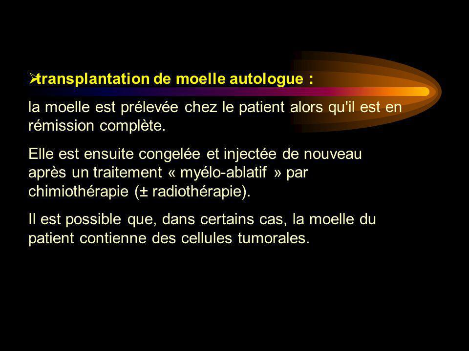 transplantation de moelle autologue :