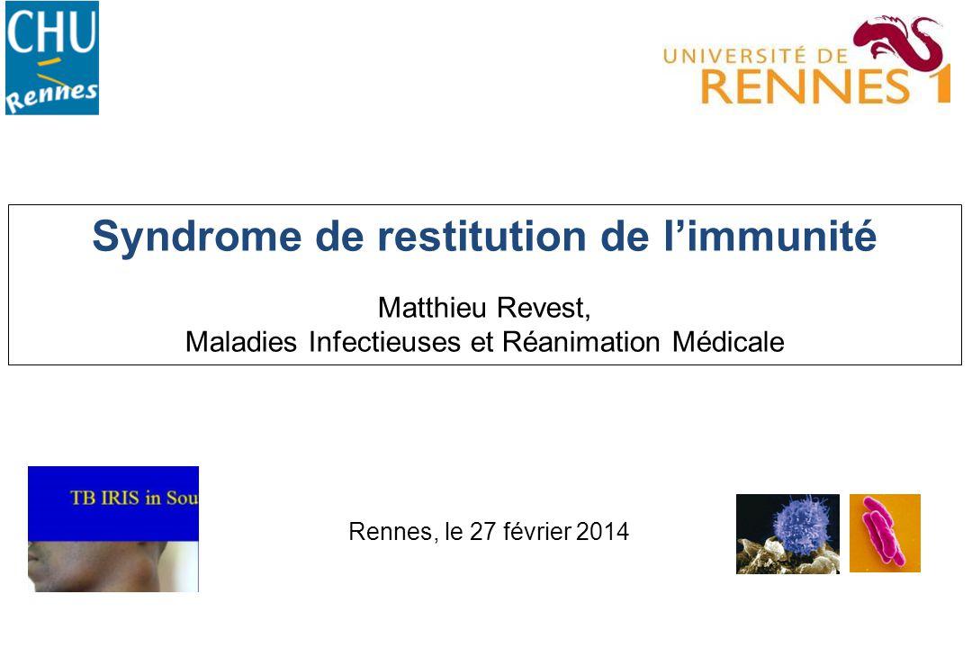 Syndrome de restitution de l'immunité