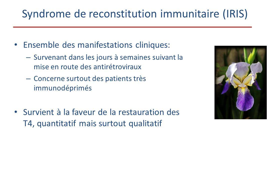 Syndrome de reconstitution immunitaire (IRIS)