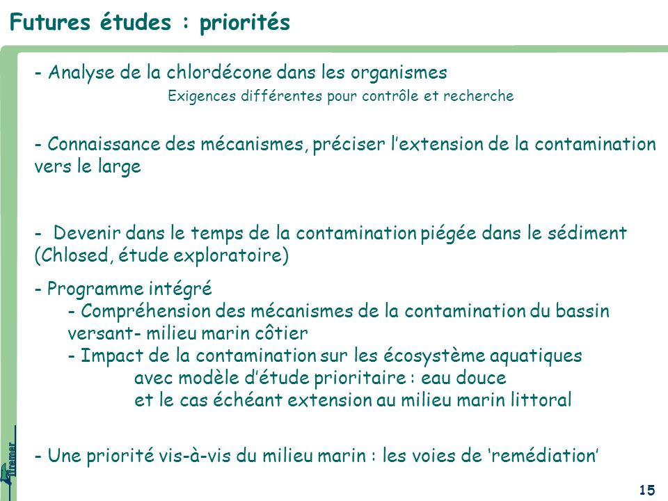 Futures études : priorités