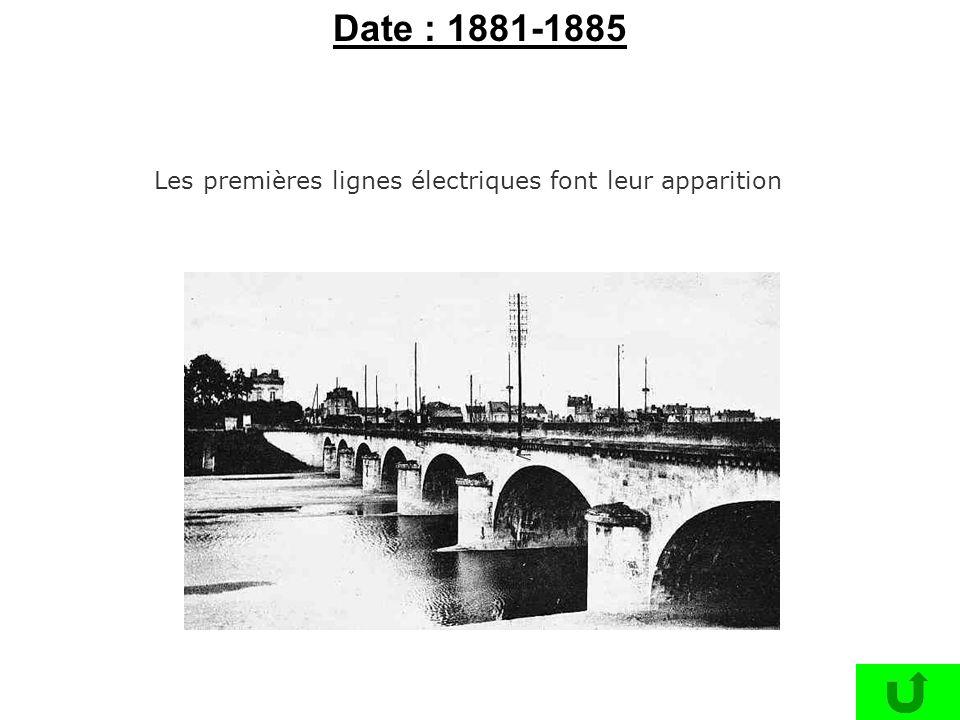 Date : 1881-1885 Les premières lignes électriques font leur apparition