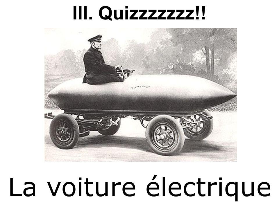 Quizzzzzzz!! La voiture électrique