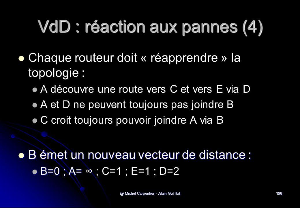 VdD : réaction aux pannes (4)