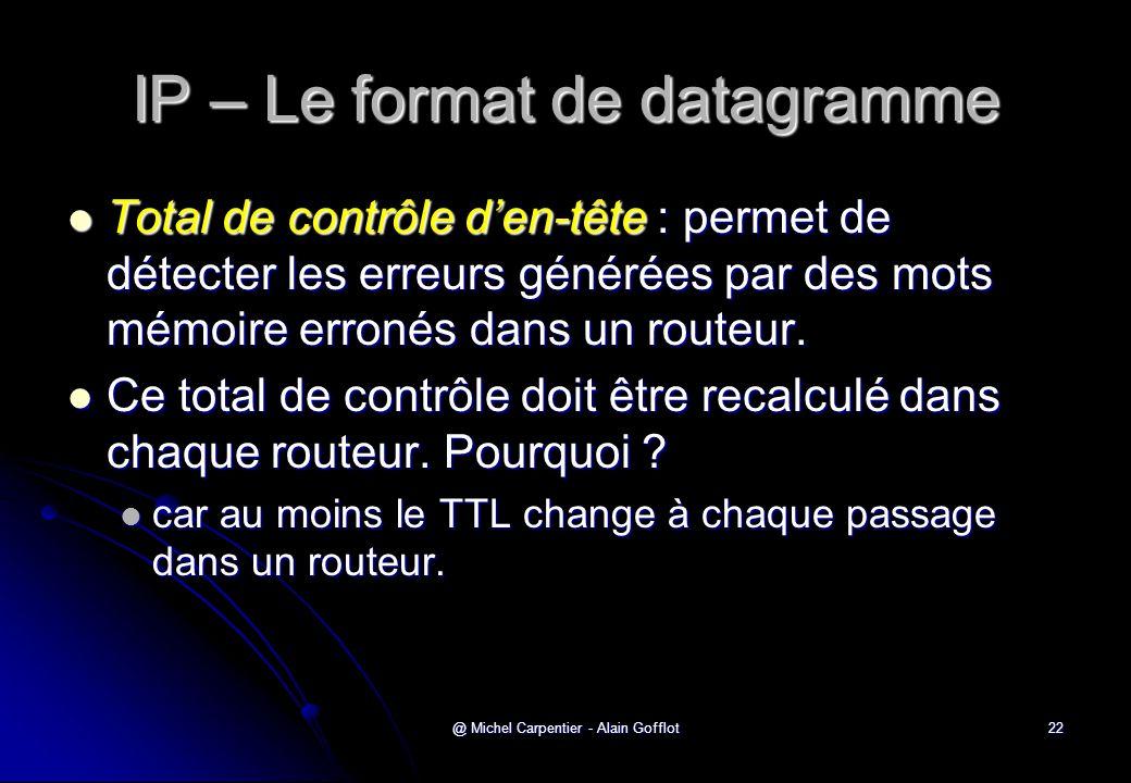 IP – Le format de datagramme