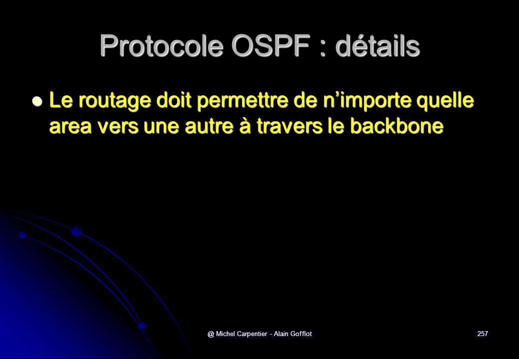 Protocole OSPF : détails