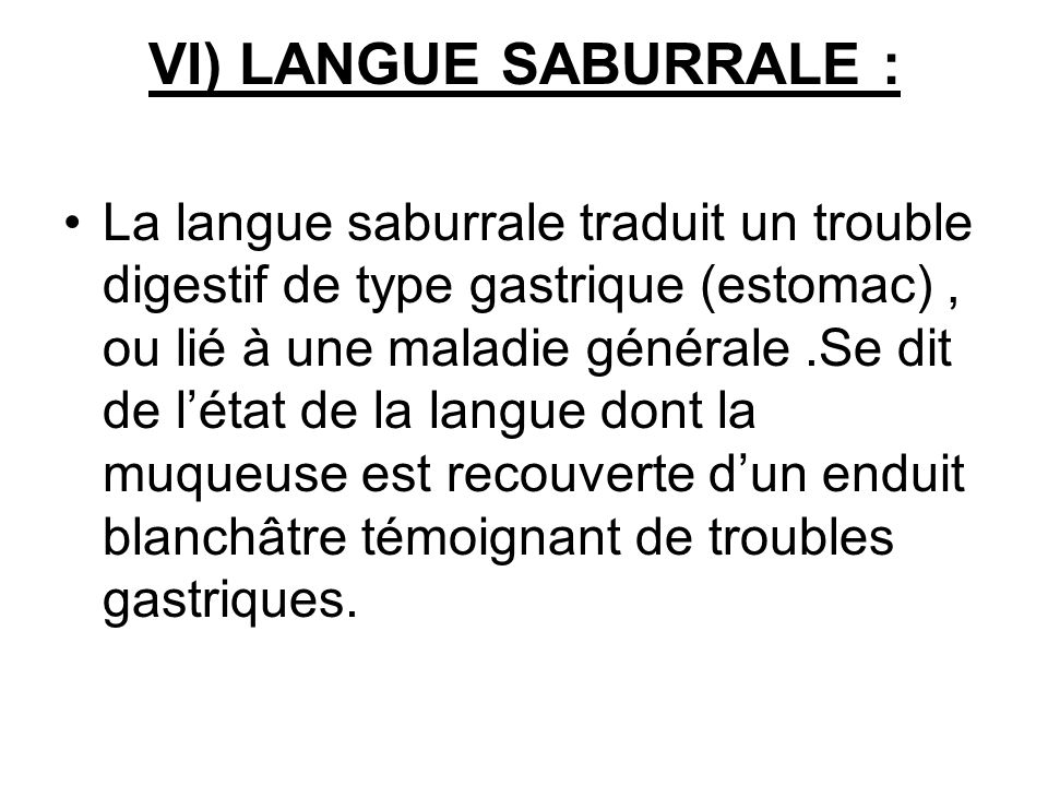 VI) LANGUE SABURRALE :