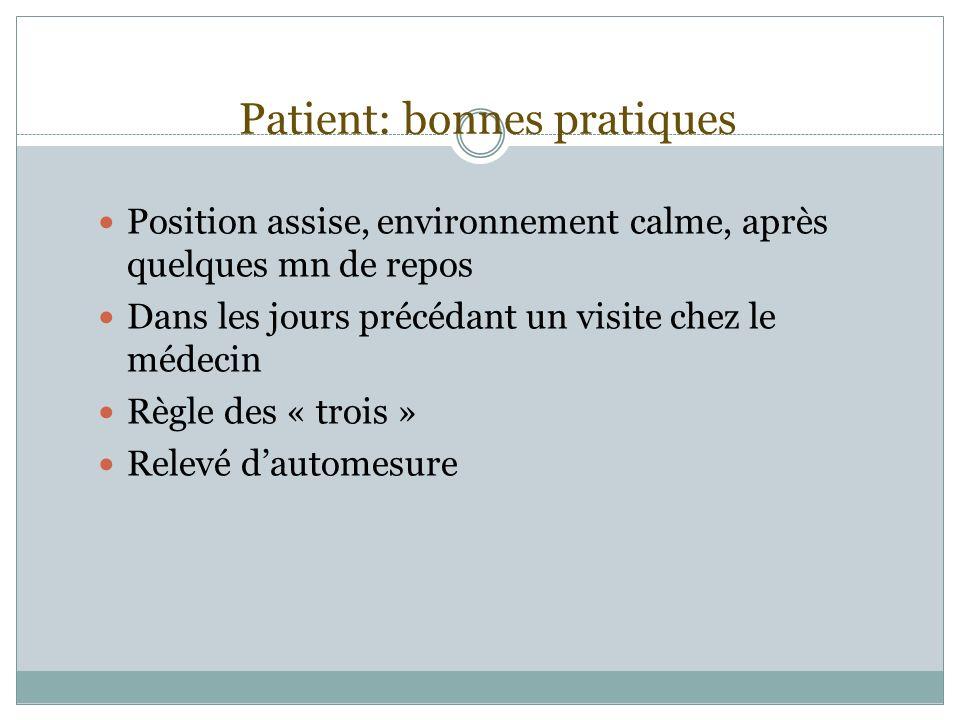 Patient: bonnes pratiques