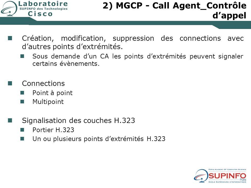 2) MGCP - Call Agent_Contrôle d'appel