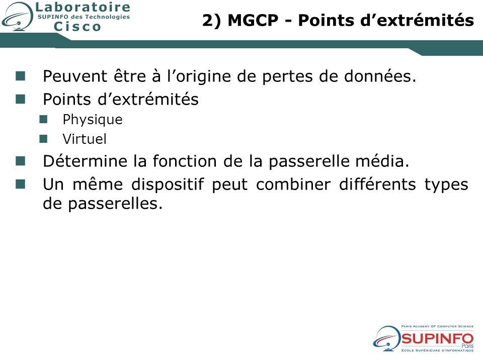 2) MGCP - Points d'extrémités