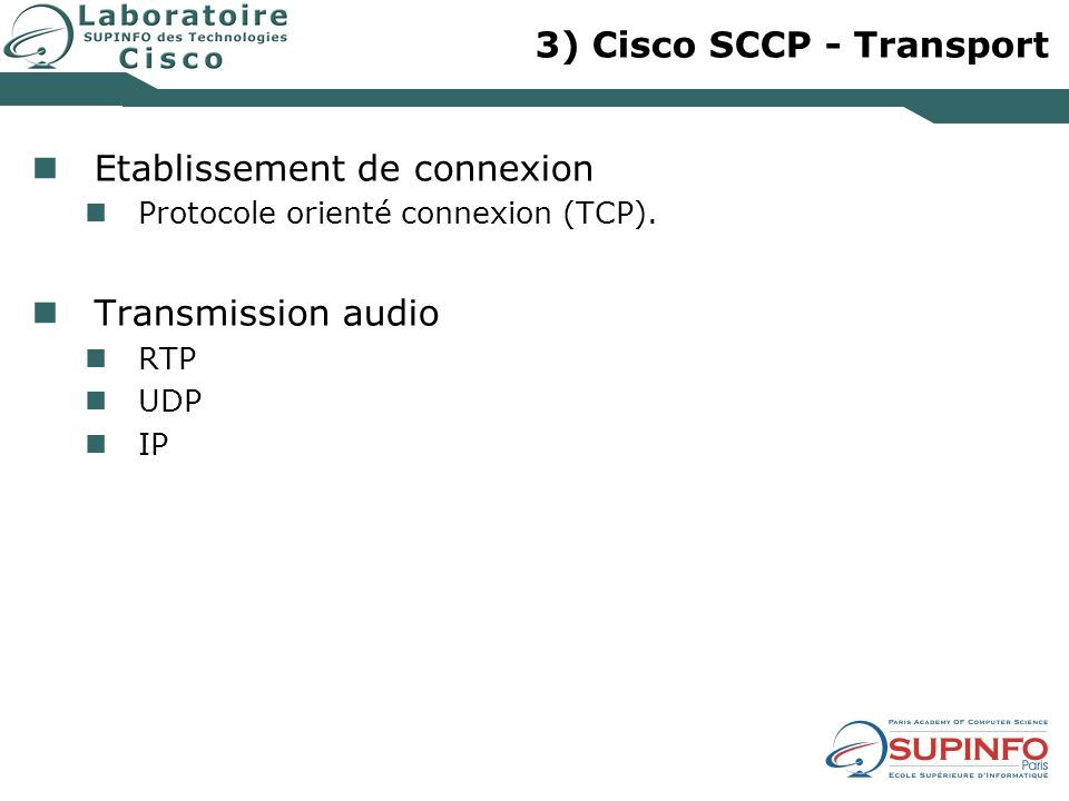 3) Cisco SCCP - Transport