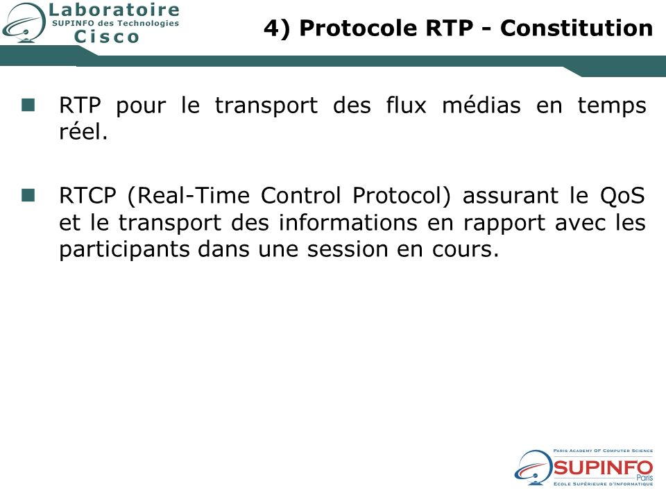4) Protocole RTP - Constitution