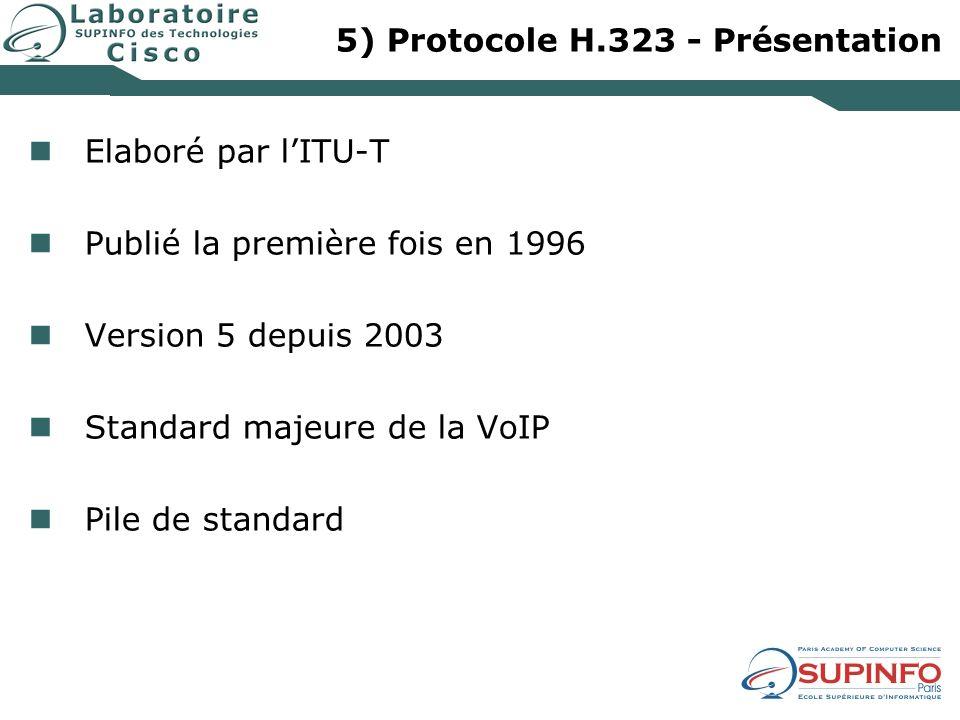 5) Protocole H.323 - Présentation
