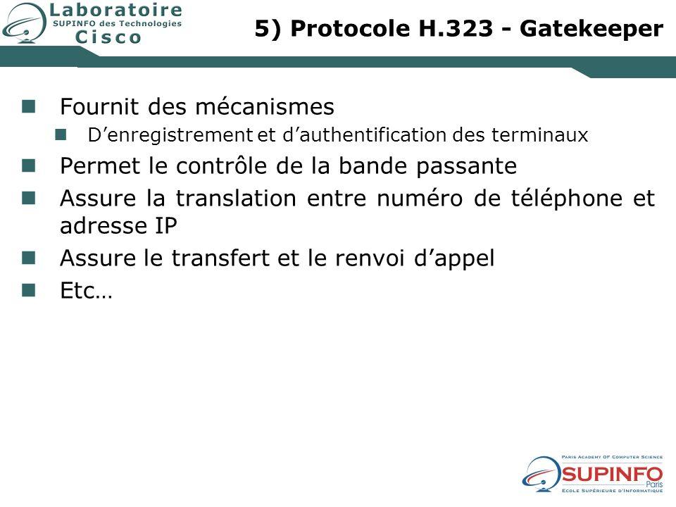 5) Protocole H.323 - Gatekeeper