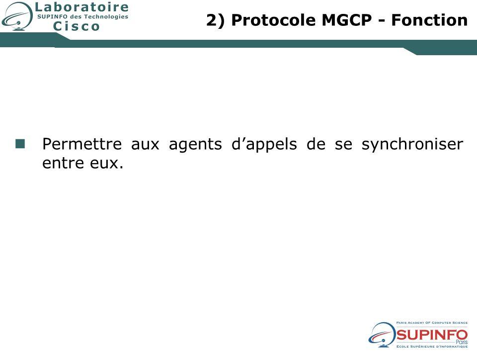 2) Protocole MGCP - Fonction