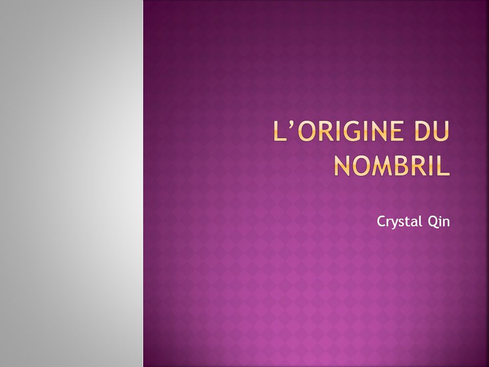 L'Origine du Nombril Crystal Qin