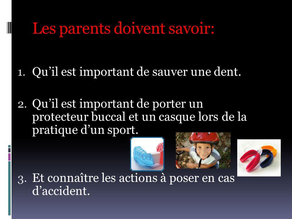 Les parents doivent savoir: