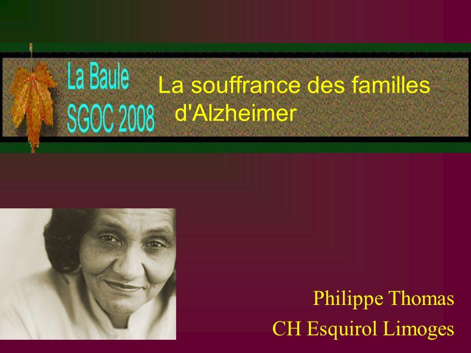La souffrance des familles d Alzheimer
