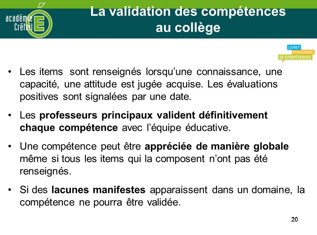 La validation des compétences