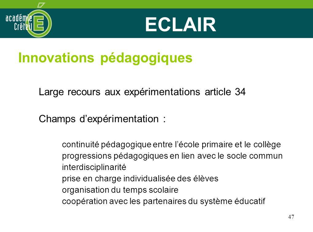 ECLAIR Innovations pédagogiques