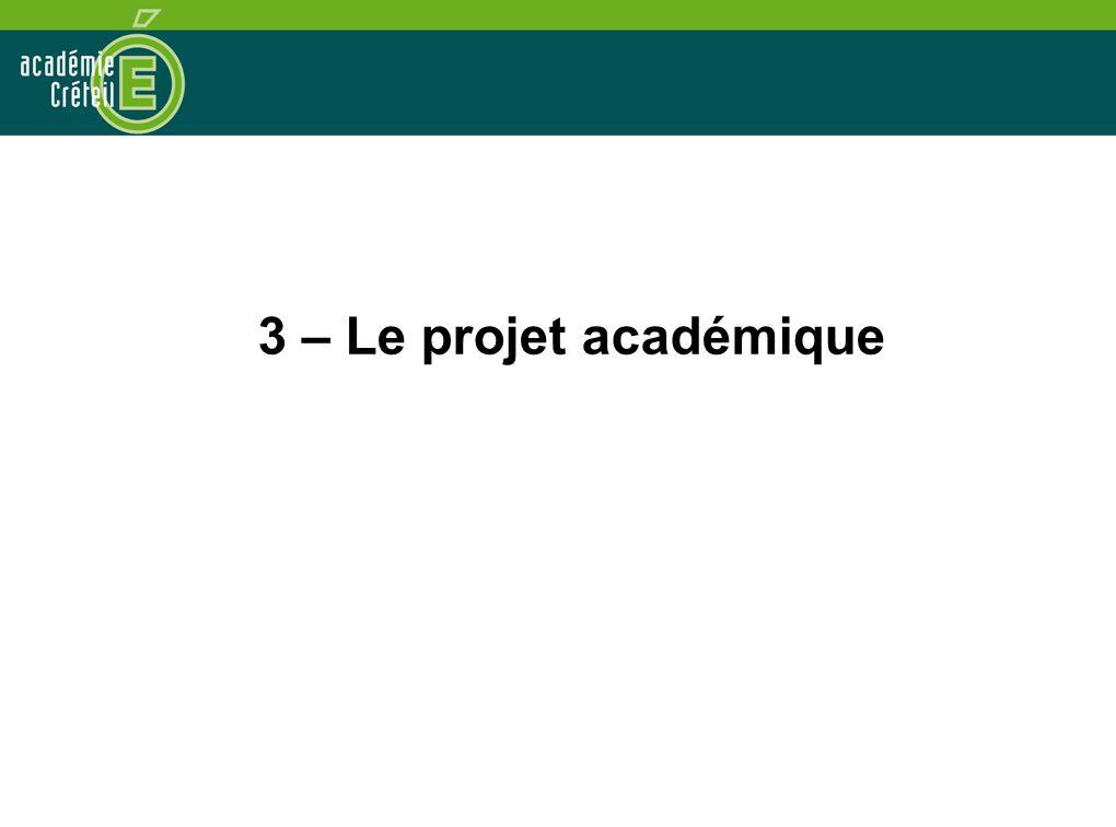 3 – Le projet académique