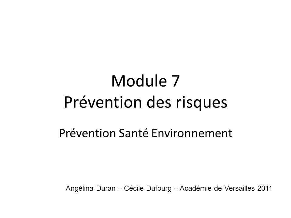 Module 7 Prévention des risques