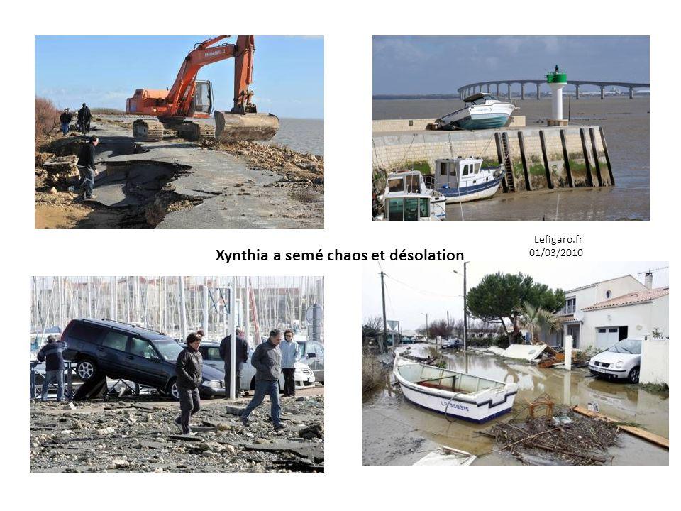 Xynthia a semé chaos et désolation
