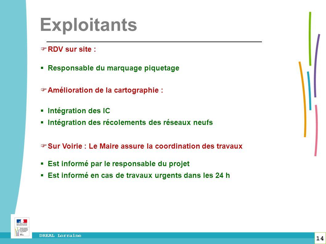 Exploitants RDV sur site : Responsable du marquage piquetage