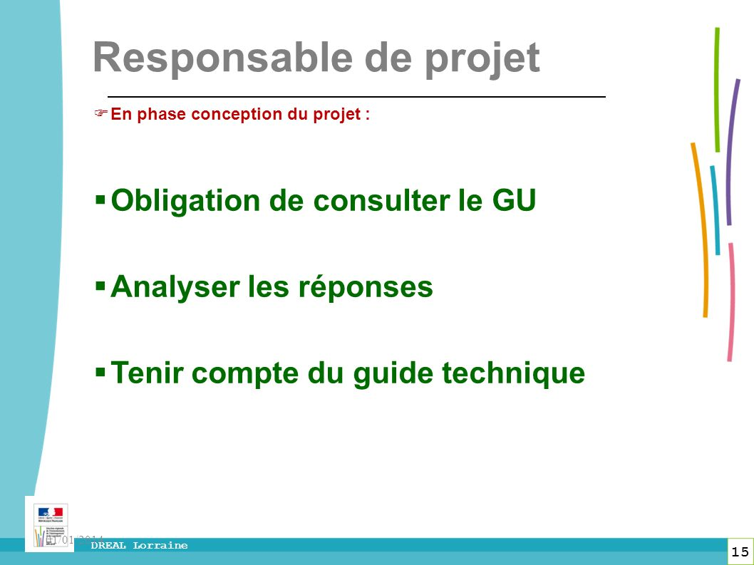 Responsable de projet Obligation de consulter le GU